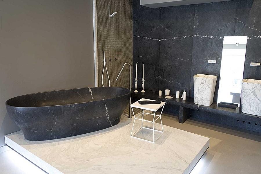 Bagni In Marmo Immagini : Roma il bagno effetto marmo dal fascino contemporaneo